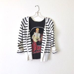 H&M • striped v-neck cardigan sweater • NWOT